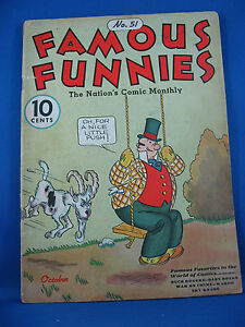 FAMOUS FUNNIES 51 VG+  Buck Rogers 1938