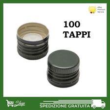 100 TAPPI SALVAGOCCIA IN ALLUMINIO PER BOTTIGLIA OLIO MARASCA DIAMETRO 31,5 MM