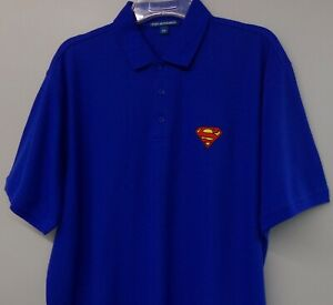 Superman Insignia Embroidered Mens Polo XS-6XL, LT-4XLT Krypton Lex Luther New