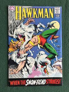 Hawkman #27 DC Comics Silver Age Joe Kubert Snow Fiend Hawkgirl vg