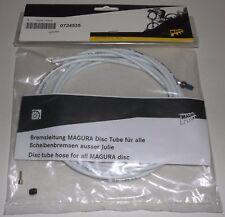 Magura MTB Hydraulic Disc Brake Tube Hose Tubing 2500mm White 0° 0724535