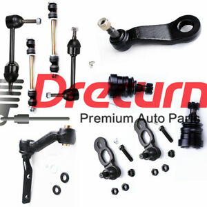 10pc Front Tie Rod Pitman idler SET for Ford Crown Victoria Lincoln Town Car