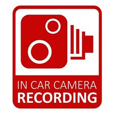 In Car CCTV Camera Recording Dash Cam Car Van Window Bumper Sticker Decal Red