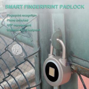 Android iOS Waterproof Fingerprint Padlock Keyless Door Lock Biometric Locker