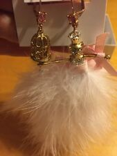 BETSEY JOHNSON Crystal Mouse Ballerina &Birdcage Mismatch Earrings PK4