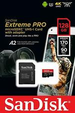 SanDisk Extreme PRO Micro SD 128GB w/ Adapter iPhone Samsung Android Nintendo
