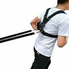 Strap Harness Sled Vest Belt  Hook Gym Workout D Tire Pulling Running Exercise