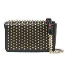 Christian Louboutin Zoompouch Studded Cross Body Black Leather Shoulder Bag