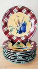 Lenox WINTER GREETINGS EVERYDAY TARTAN Dinner Plates ~ Set of 4 ~ New
