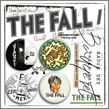 THE FALL ⑤ Mark E Smith Post Punk John Peel Beggars Manchester Badge Set x4