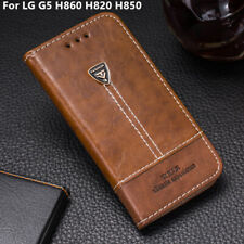 Card Holder Leather Flip Stand Wallet Phone Case Cover For LG G5 H860 H820 H850