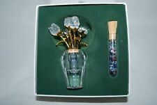 Swarovski Crystal Memories Secrets Rose Vase with Tube of colored crystals