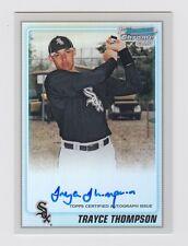 2010 BOWMAN CHROME TRAYCE THOMPSON AUTO AUTOGRAPH REFRACTOR 463/500 CARD #BCP214