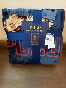 NWT - Polo Ralph Lauren Sweatshirts Polo Bear Throw Blanket 50x70 Navy