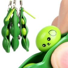 Soy Bean Pea Pod Fidget Stress Toy Keyring + Retail Gift Packaging Xmas
