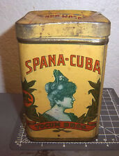 vintage Yocum Bros Spana Cuba tobacco tin, great colors & graphics, Pennsylvania