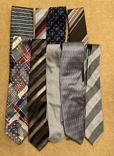 SELECTION OF 9 VINTAGE POLYESTER TIES -ASSORTED DESIGNS - CRAFT PROJECTS ETC