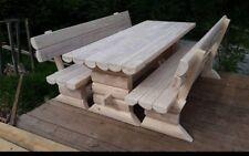 Holzgarnitur  Massiv ---DINO--- Gartenmöbel Rustikal Sitzgruppe NEU