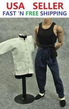 """ZY TOYS 1/6 Long Sleeves Kung Fu Costume Suit Set B For 12"""" Male Figure Doll"""