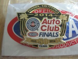 2014 NHRA 50th Pomona Auto Club Finals Official Hat Pin