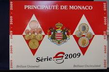 Monaco Kursmünzen 1 Cent bis 2 Euro 2009 in Blister und Umkarton BU