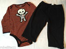 Halloween Old Navy One Piece and Pants  12-18 mos Skeleton 100% Cotton  0451