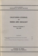 Gold and tungsten mines, Tulare County, Calif, RARE vintage 1st ed, BIG MAP! VG+
