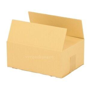 100x Faltkarton Karton 250 x 175 x 100 Faltschachtel Verpackungen Versandkarton