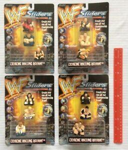 COMPLETE SET Lot of 12 WWF Sliders Wrestling Figures 1999 Oddz On Hasbro 54477