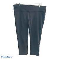PRANA Women's Gray Yoga Athletic crossFIT Running Cropped Capris Pants Size XL