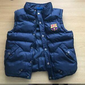 FC Barcelona Official Football Boys Padded Body Warmer Jacket Gilet 8-9 years