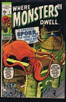 Where Monsters Dwell #2 ORIGINAL Vintage 1970 Marvel Comics