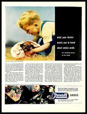 1948 Rexall Drugs Vintage PRINT AD Amino Acids Crystals Of Tyrosine Child Dog