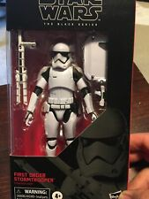 Hasbro Star Wars The Black Series First Order Stormtrooper Toy 6-inch Scale...