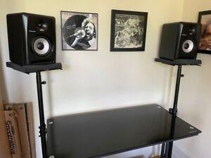 2 x Gravity SP 3202 VT Studio Monitor Speaker / DJ Stands (Height Adjustable)
