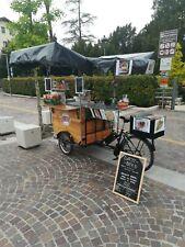 Bici street food per vendita itinerante, elettrica motore bafang 500w.