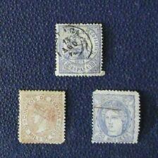 Sellos de España hasta 1900 de 3 sellos usado