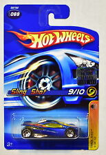 HOT WHEELS 2005 SLING SHOT 9/10 TRACK ACES #069 BLUE FACTORY SEALED