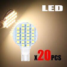 20 x Bright 4.8w T10 921 3500k Warm White Car RV Wedge 24 SMD LED Light Bulb 12v