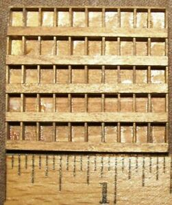 O Scale On3 On30  WALL PARTS CABINET Assembled   NOB