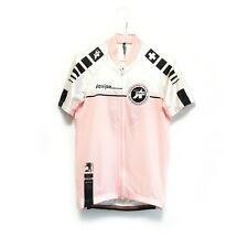 Assos Switzerland Women's Pink White Bike Cycling Jersey Shirt Size M