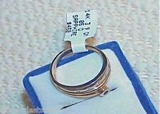 14K 5 DIAMOND BLUE SAPPHIRE RING New Tag Modernism Size 7