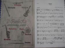 Noten - 21 Barock-Hits für Tenorhorn - zweistimmig