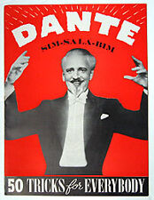 Original Dante Souvenir Program