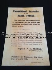 1916 Easter Rising Surrender Padraig Patrick Pearse Irish Republican Army- Print