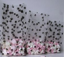 Paw print cello cellophane bags. Small medium large 10,20,25,40 Puppy dog treats