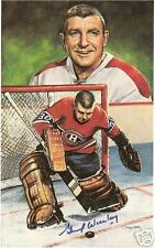 Gump Worsley Autographed Hockey Legends Card HOFer