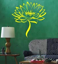 Vinyl Wall Decal Lotus Flower Blossom House Interior Stickers Mural (645ig)