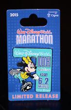 NEW Walt Disney World 2015 Marathon Pin 10k Run 6.2 Miles Minnie Mouse
