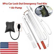 10pcs Car Door Open Unlock Tool Kit Key Lost Lock Out Wedge Emergency Air Pump